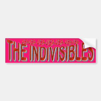 USA THE INDIVISIBLES Red White Blue Car Bumper Sticker