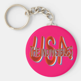 USA THE INDIVISIBLES Red White Blue Keychain
