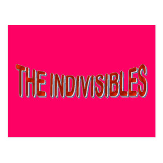 USA THE INDIVISIBLES Red White Blue Postcard