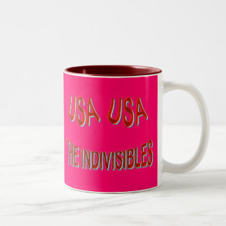 USA THE INDIVISIBLES Red White Blue Two-Tone Coffee Mug
