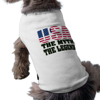 USA The Myth The Legend Pet Shirt