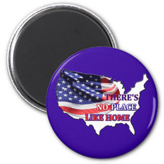 USA - There's No Place Like Home Magnet