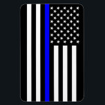 "USA Thin Blue Line Magnet<br><div class=""desc"">A Thin Blue Line symbolic USA flag design. A great gift idea for gatherings, memorial celebrations and remembrance occasions. Here&#39;s a fine line up of custom blue line design style available as an embroidery on embroidered casual baseball caps for everyone. Use the &quot;Ask this Designer&quot; link to contact us with...</div>"