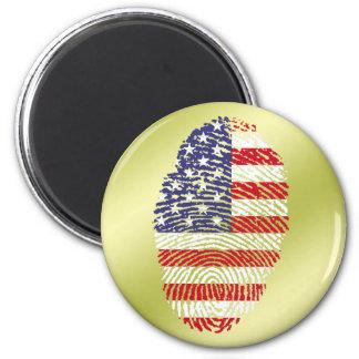 Usa touch fingerprint flag 2 inch round magnet