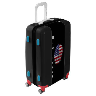 Usa touch fingerprint flag luggage