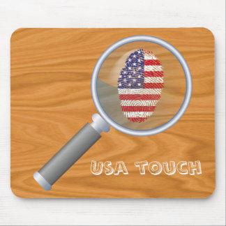 Usa touch fingerprint flag mouse pad
