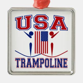 USA Trampoline Metal Ornament