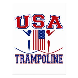 USA Trampoline Postcard