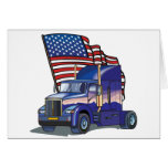 USA Truck Driver Greeting Card