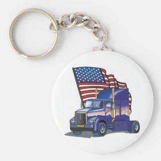 USA Truck Driver Keychain