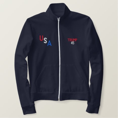 USA TRUMP INAUGURATION DA FLEECE ZIP JOGGER JACKET