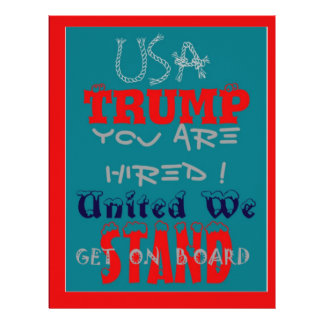 USA Trump You Are Hired! United We Stand Get On! Letterhead