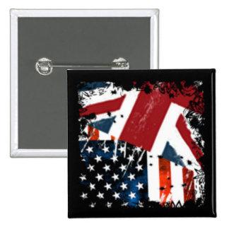 USA$UK PINBACK BUTTONS