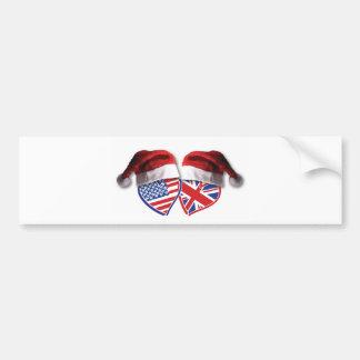 USA-UK-Santa-Hats.png Bumper Stickers