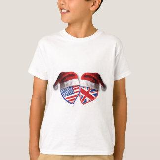 USA-UK-Santa-Hats T-Shirt