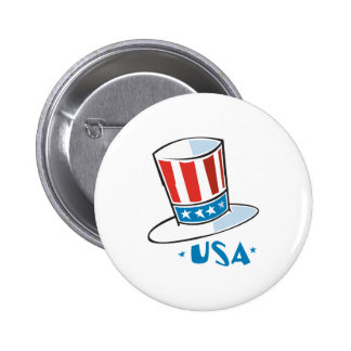 USA Uncle Sam Hat Pinback Buttons