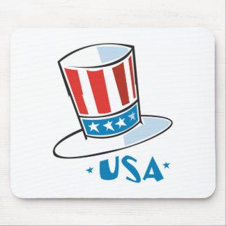 USA Uncle Sam Hat Mouse Mats