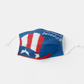 USA Uncle Sam Hat Patriotic American Cloth Face Mask
