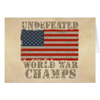 USA, Undefeated World War Champions Card