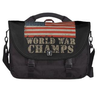USA Undefeated World War Champions Laptop Messenger Bag