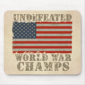 USA, Undefeated World War Champions Mouse Pad