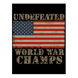 USA, Undefeated World War Champions Postcard