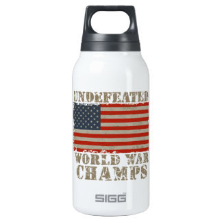 USA, Undefeated World War Champions Thermos Bottle