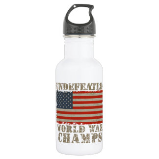 USA, Undefeated World War Champions Water Bottle