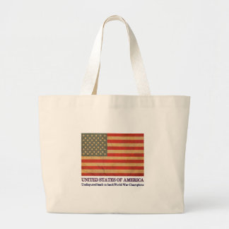 USA Undisputed back to back world war champions Canvas Bags