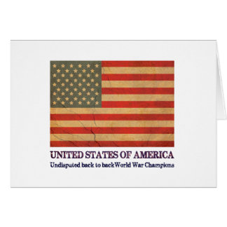 USA Undisputed back to back world war champions Card