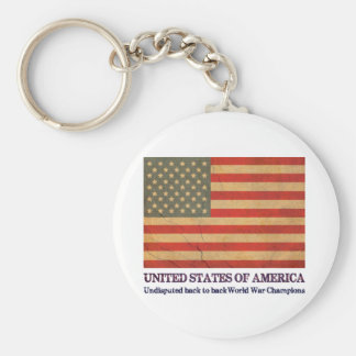 USA Undisputed back to back world war champions Keychain