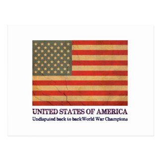 USA Undisputed back to back world war champions Postcard