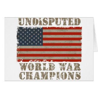 USA, Undisputed World War Champions Card
