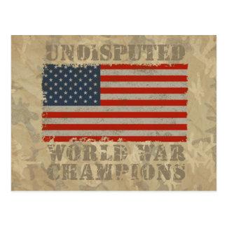 USA, Undisputed World War Champions Postcard