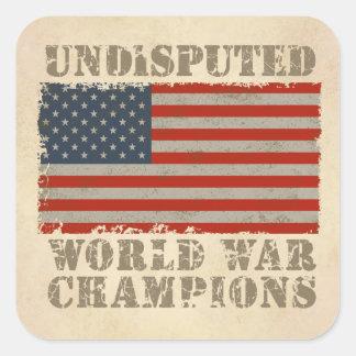 USA, Undisputed World War Champions Sticker
