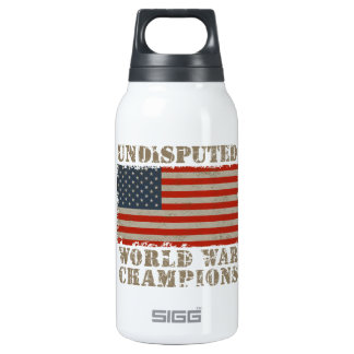 USA, Undisputed World War Champions Thermos Water Bottle