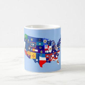 usa united states america republic flag map coffee mug