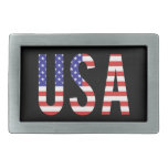 USA - United States of America Flag Letters Belt Buckles