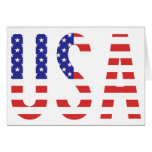 USA - United States of America Flag Letters Card