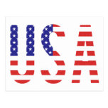 USA - United States of America Flag Letters Post Card