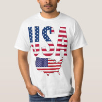 USA United States Of America Map T-Shirt