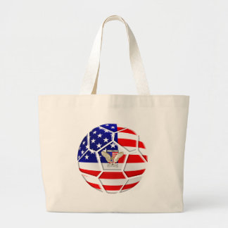 USA United States Soccer Ball gifts for fans Tote Bags