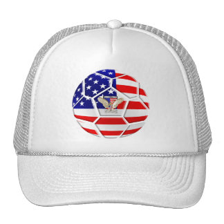 USA United States Soccer Ball gifts for fans Mesh Hats