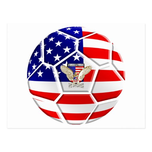 USA United States Soccer Ball gifts for fans Post Cards