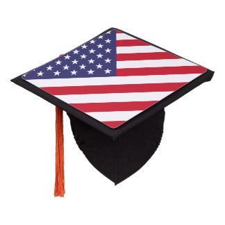 USA United States Stars And Bars Flag Graduation Cap Topper