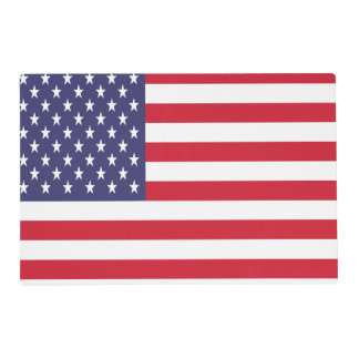 USA United States Stars And Bars Flag Placemat