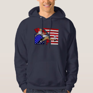USA US soccer strike American flag artwork gifts Hoodie