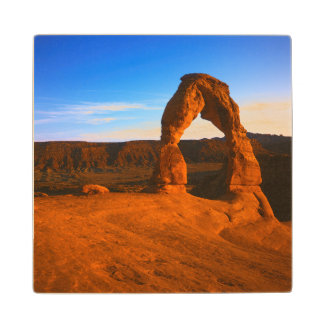 USA, Utah, Arches National Park, Delicate Arch Maple Wood Coaster