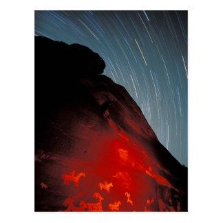 USA, Utah, Arches National Park, Petroglyphs Postcard