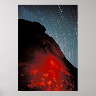 USA, Utah, Arches National Park, Petroglyphs Poster